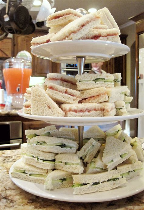 Tea Sandwiches For Baby Shower by Seriously Daisies Pink Gray Baby Shower Food Drinks Bar