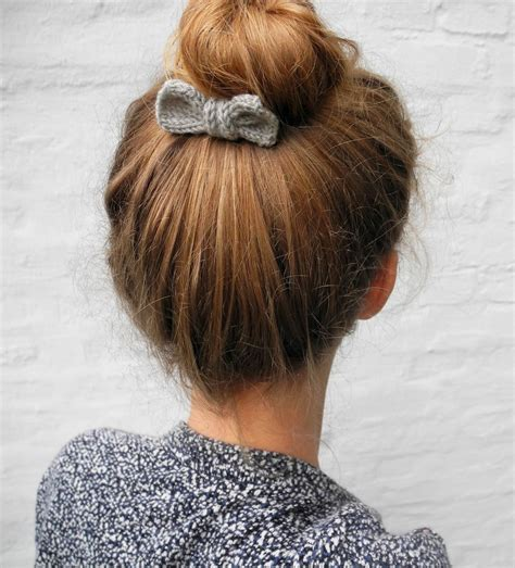 how to knit a hair bow 25 diy hair accessories to make now