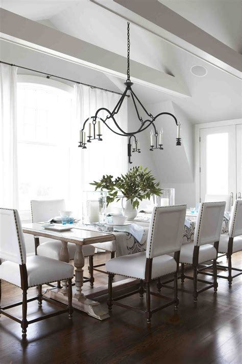 Casual Dining Room Lighting Style Archive Awash In White Stacystyle S