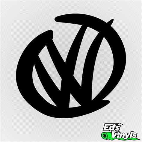 volkswagen logo volkswagen logo modelo 2 edsvinyls