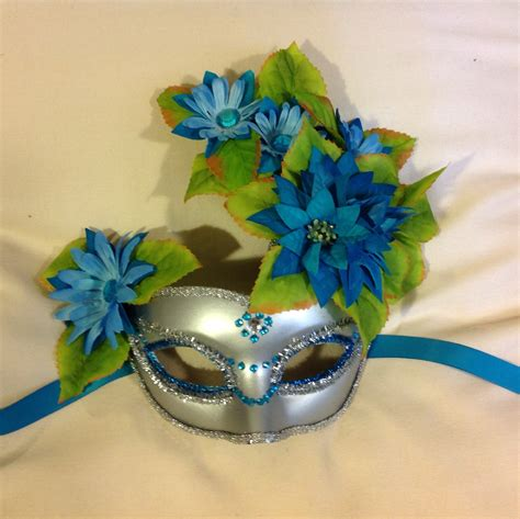 Handcrafted Masks - handmade masquerade masks with flower festival mask mardi