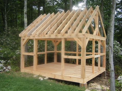 Diy Pole Shed by Bobbs Build A Wood Shed Kit