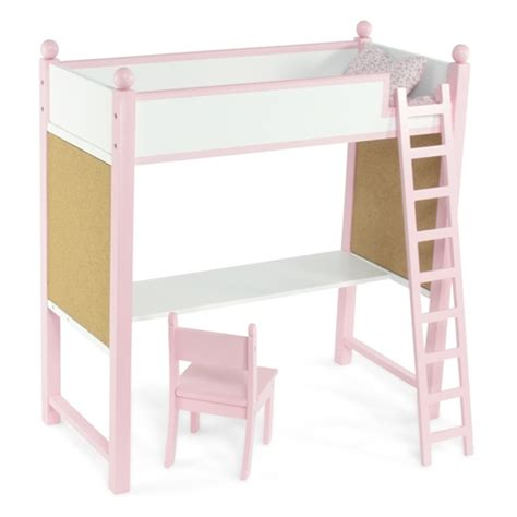 doll desk 18 inch doll furniture loft bed and desk combo fits