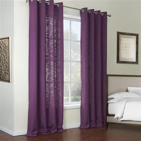 closeout drapes purple color two panels discount curtains online