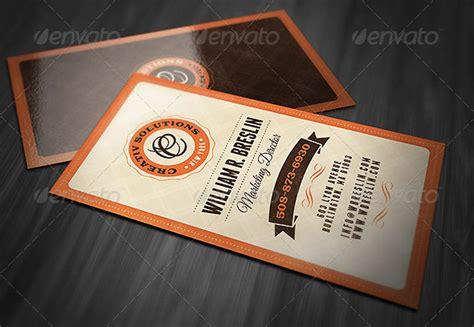 retro business card template psd 25 cool psd retro vintage business card templates