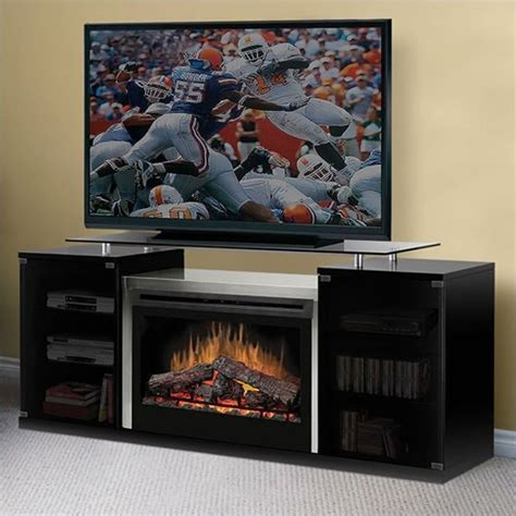 Electric Tv Fireplace Stand by Dimplex Marana 76 Quot Tv Stand In Black With Electric