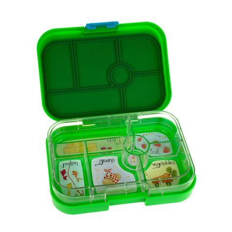 Murah Yumbox 4 Compartment Original green bento lunch box 4 compartment lime green bento