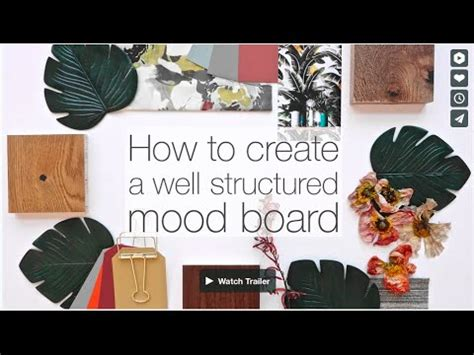 how to create a well structured mood board | make