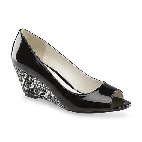 wedge dress shoes covington s manor black white wedge dress shoe