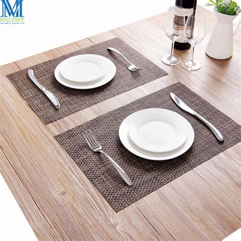 placemats for kitchen table aliexpress buy 2pcs lot kitchen table mats