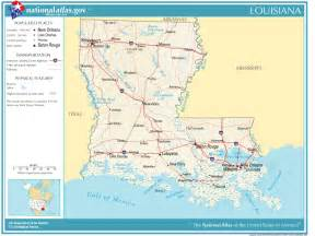 map of and louisiana border united states geography for louisiana