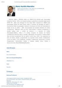 Curriculum Vitae Lattes by Curr 237 Culo Do Sistema De Curr 237 Culos Lattes Marco Aur 233 Lio