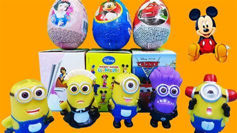 Walkie Talkie Cars Minion Mickey Mouse minions disney eggs princess snow white mickey mouse pixar cars
