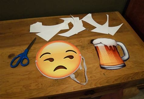 printable emoji mask print out these emoji cutouts for the easiest halloween