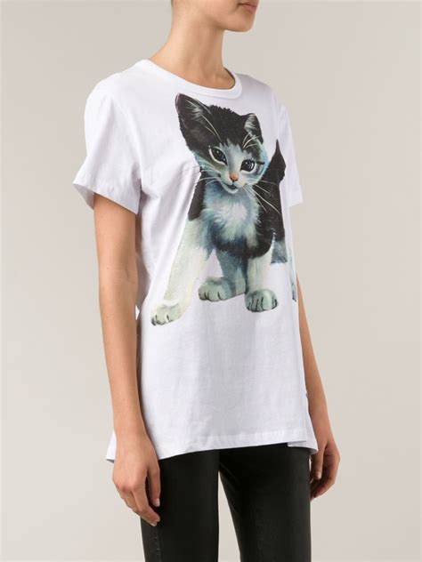 Blouse Cat White Los lyst vivienne westwood cat t shirt in white