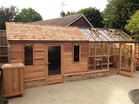 Pics Inside 14x30 House by 8ft X 28ft Bespoke Greenhouse Annexed Shed With Cedar