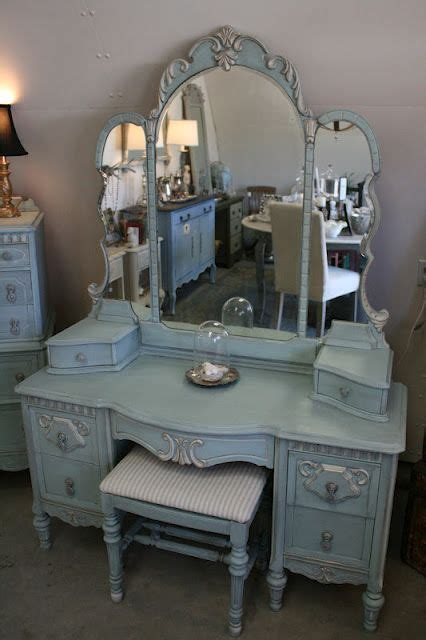 Used Makeup Vanity For Sale by Reloved Rubbish Vintage Aqua Dresser And Vanity Set