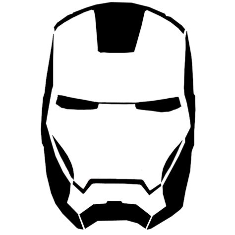 ironman mask template iron clipart black and white clipartsgram
