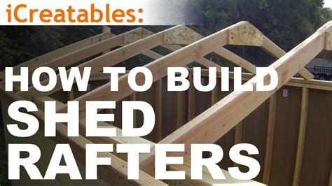 How To Build Shed Rafters by How To Build A Shed Part 4 Building Roof Rafters
