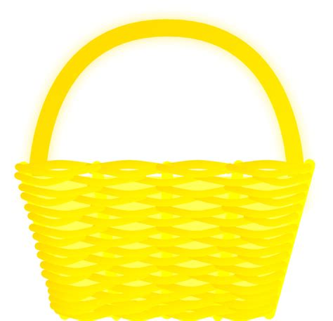 clipart basket yellow basket clip at clker vector clip