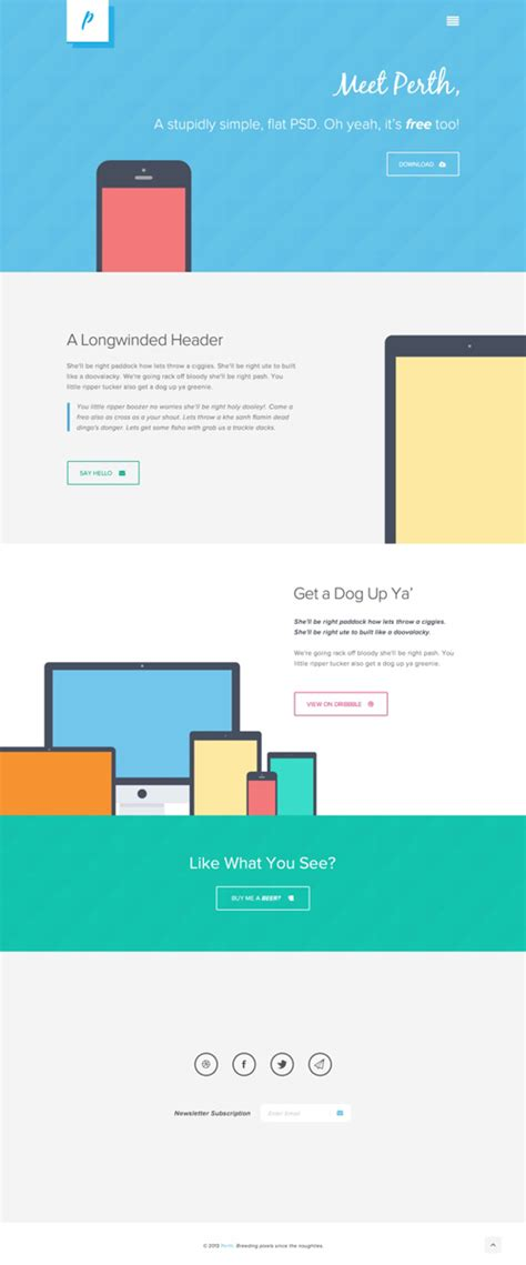 flat design template psd free flat psd templates and web elements for ui design
