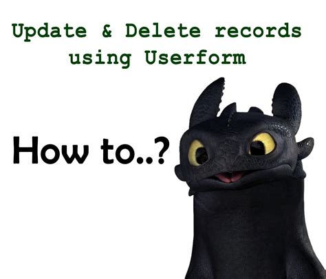 How To Delete Records How To Update And Delete Records Using Userform