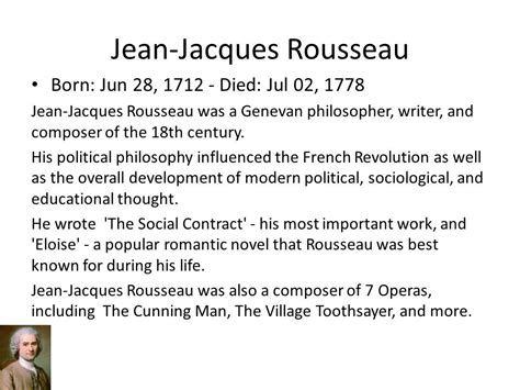 Why The Social Contract Rousseau jean jacques rousseau ppt