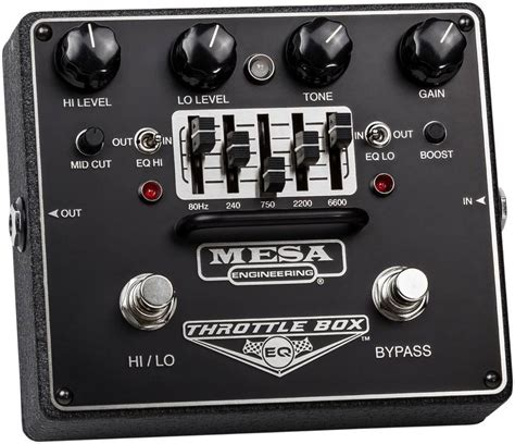 Box Equalizer Bell mesa boogie throttle box dual mode 5 band graphic eq pedal