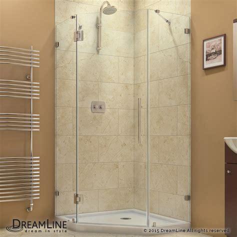 Hinged Frameless Shower Doors Dreamline Showers Prismlux Hinged Shower Enclosure