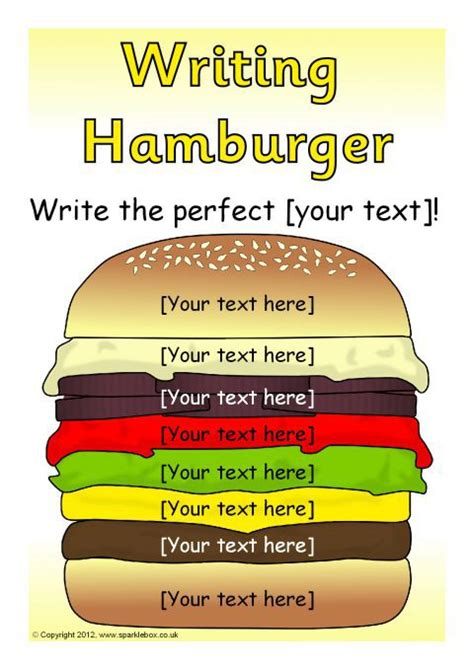 burger writing template editable writing hamburger templates sb7319 sparklebox