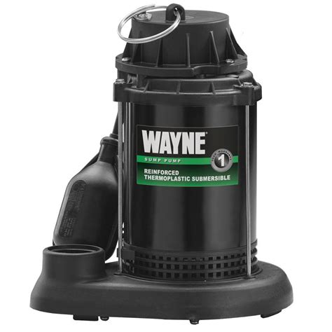 wayne 1 2 hp thermoplastic sump spt50 the home depot