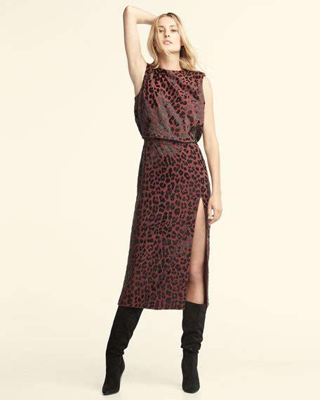 Who Wore It Better Michael Kors Leopard Sheath Dress by Michael Kors Collection Embellished Leopard Sheath Dress