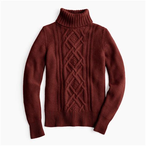 knit turtle neck sweater and brown sweater tunic