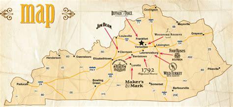 map kentucky bourbon trail the fifty best the bourbon trail