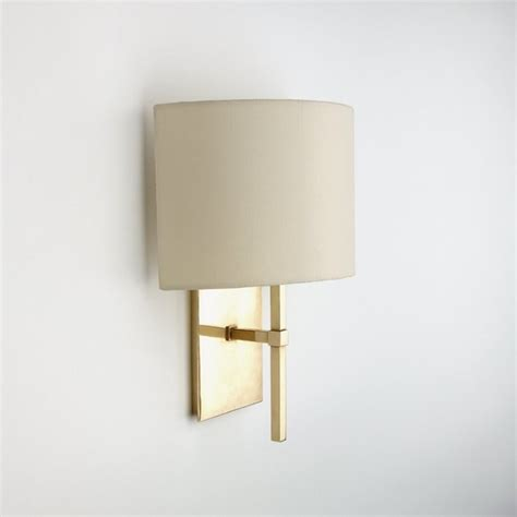 Wall Sconce Shades spence wall mounted single arm sconce with fabric half shade modern wall sconces