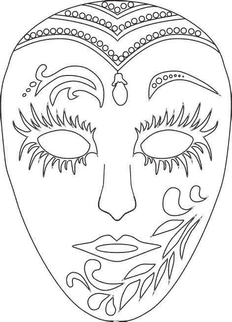 Mascaras De Carnaval Para Colorear Contuspropiasmanos | fichas infantiles caretas de carnaval