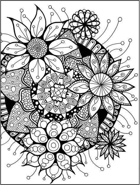 coloring pages for adults exles zendala coloring book dover publications sle