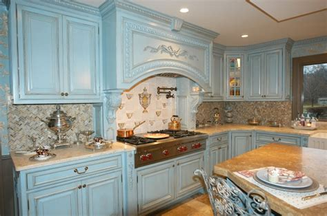 french blue kitchen cabinets french blue kitchen traditional kitchen new york