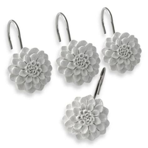 flower shower curtain hooks buy decorative shower curtain hooks from bed bath beyond