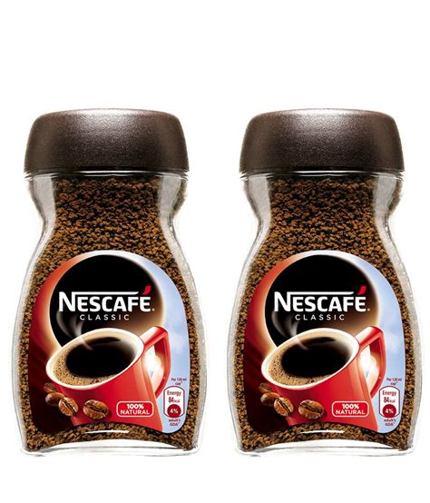 NESCAFE Classic Coffee Glass Jar 50g   Pack of 2: Buy
