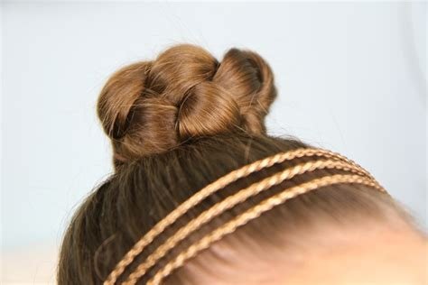 simple hairstyles with one elastic simple braided bun cute girls hairstyles cute girls
