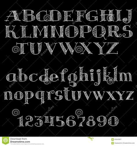 design font blackboard chalk font or type alphabet on blackboard stock vector