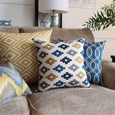 blaue und gelbe kissen blau gelb kissen werbeaktion shop f 252 r werbeaktion blau