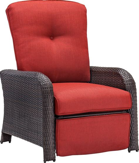 outdoor wicker recliners hanover strathmere luxury wicker outdoor recliner chair