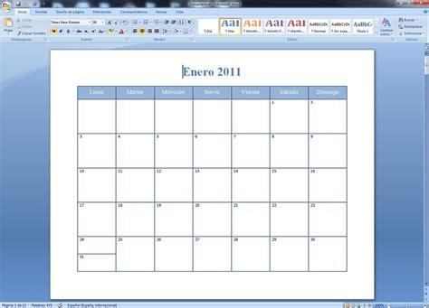 Insertar Calendario Crear Calendario Con Asistente De Word Rwwes