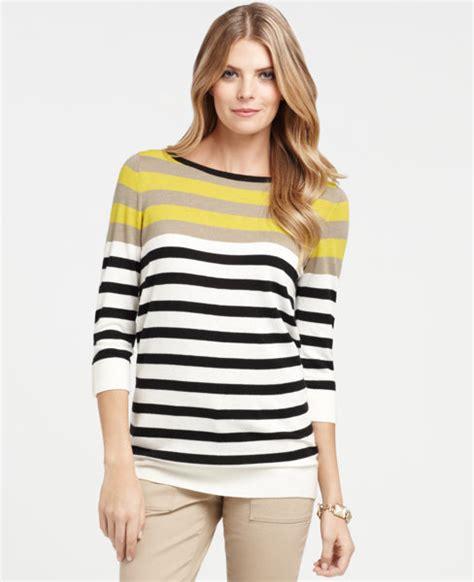 Delia Stripe Tunic alba yellow popsugar fashion