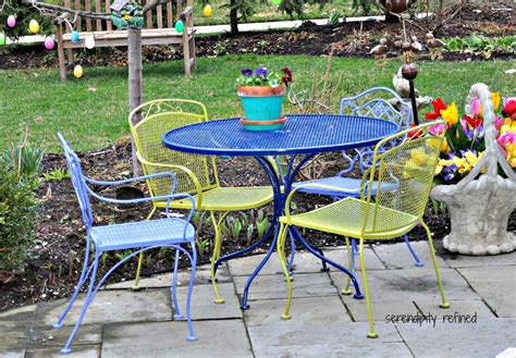 Colorful Patio Furniture Colorful Iron Furniture Popular Wrought Iron Outdoor Furniture Home Design By Fuller