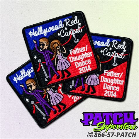 custom patches embroidered patches patchsuperstore custom girl scouts father daughter dance patches