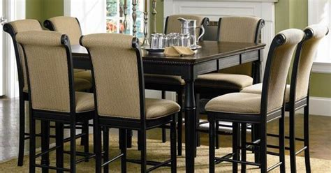 counter height settee cabrillo counter height dining table w leaf coaster
