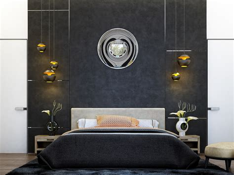 contemporary art deco 6 creative bedrooms with artwork and diverse textures